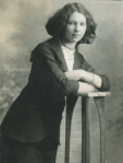 black and white photograph of the real Fay Howe