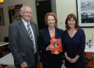 ex-Prime Minister Gillard has great taste in books! (With Peter Watson, Albany MLA and Dianne)